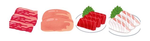 いろいろなお肉のイラスト